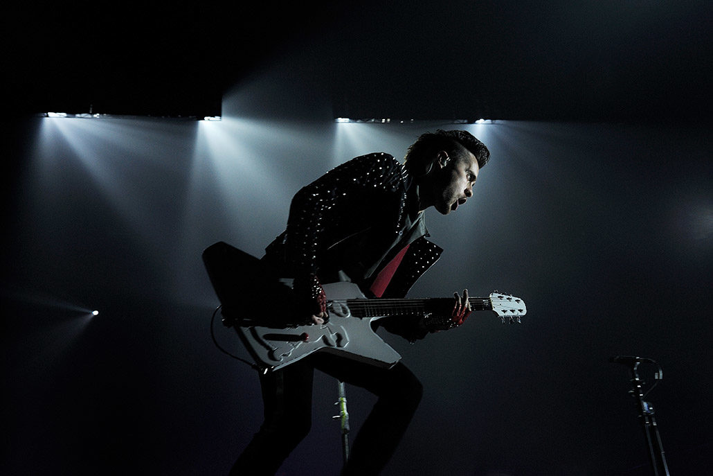 Jared Leto of 30 Seconds To Mars playing at Wembley photographed by Marcus Maschwitz
