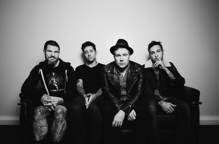 Portait of Fall Out Boy in studio photographed by Marcus Maschwitz