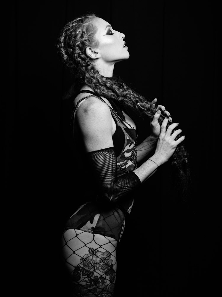 Studio portrait of Katrina Louise from Fuel Girls photographed by Marcus Maschwitz