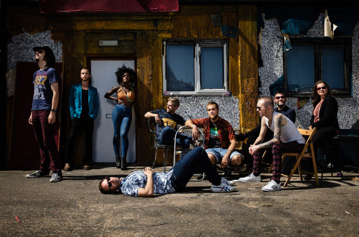 Promo of London Afrobeat Collective photographed by Marcus Maschwitz