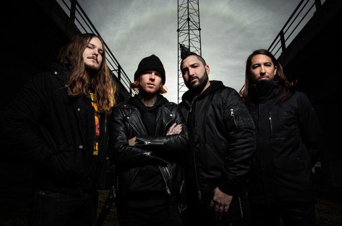 Copenhagen promo portrait for Of Mice & Men photographed by Marcus Maschwitz