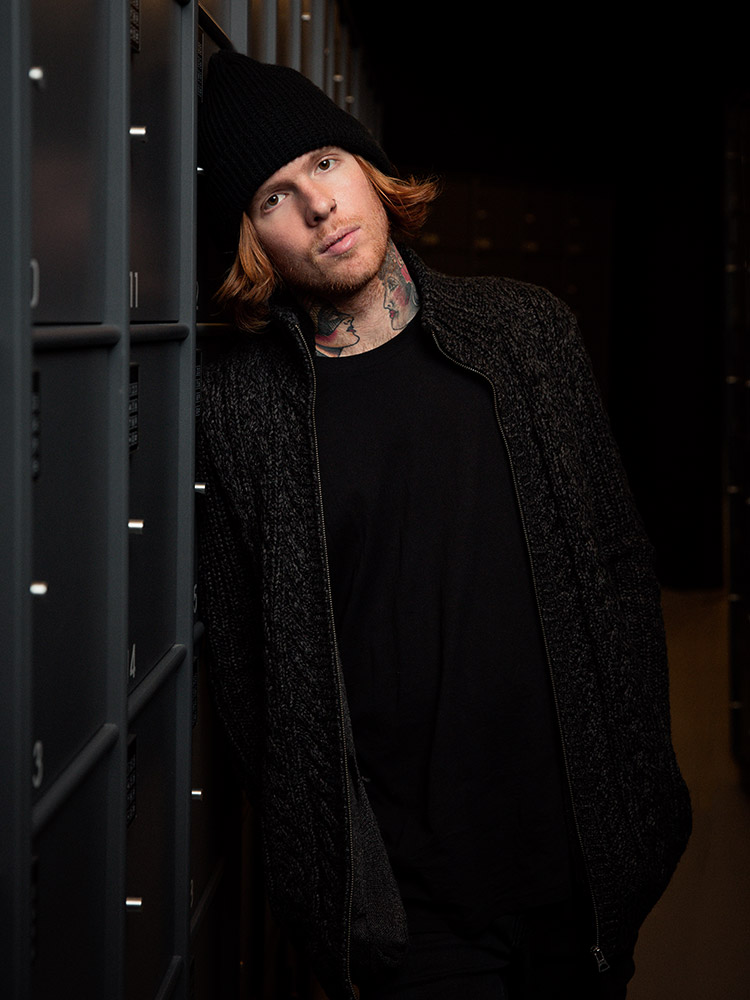 Press portrait of Alan Ashby from Of Mice & Men photographed in Copenhagen by Marcus Maschwitz