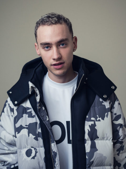 Fashion editorial portrait of Olly Alexander from Years & Years photographed by Marcus Maschwitz