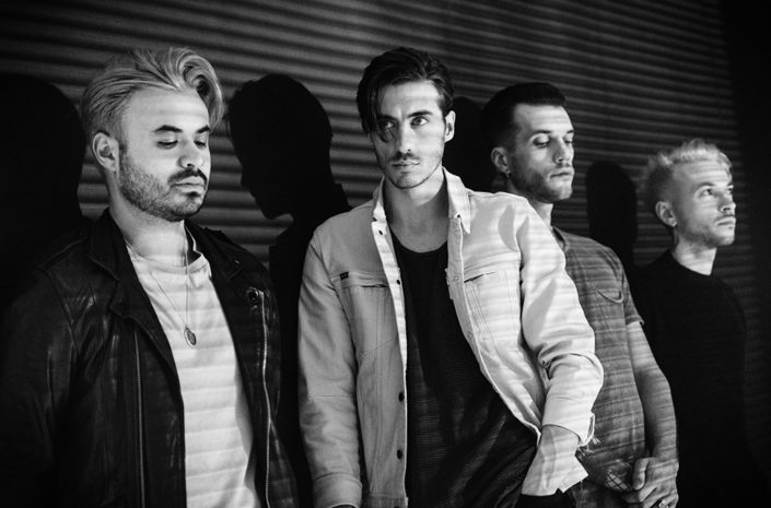 Daylight promo portrait of Young Guns photographed by Marcus Maschwitz