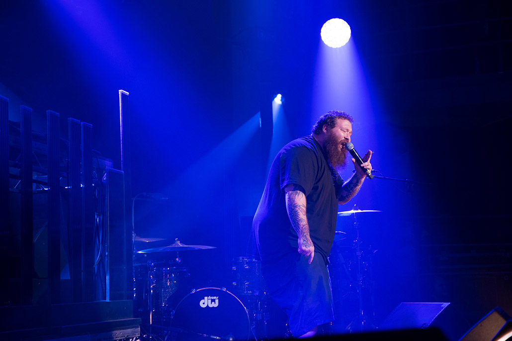 Action Bronson playing for Red Bull live in London photographed by Marcus Maschwitz
