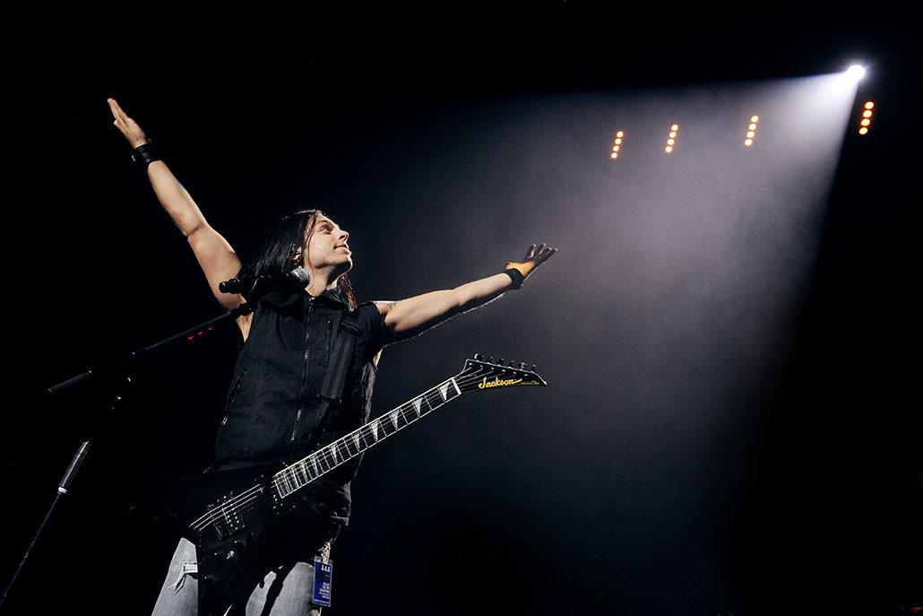 Matt Tuck of BFMV headlining the Royal Albert Hall for Teenage Cancer Trust photographed by Marcus Maschwitz