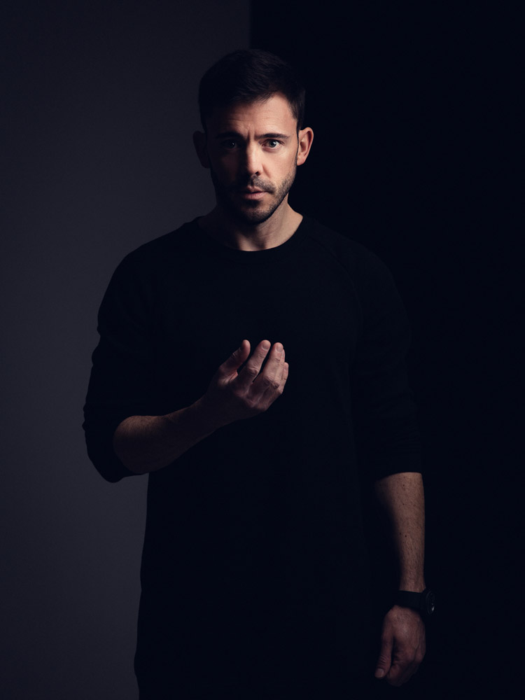 Studio portrait of DJ Darren Styles photographed by Marcus Maschwitz