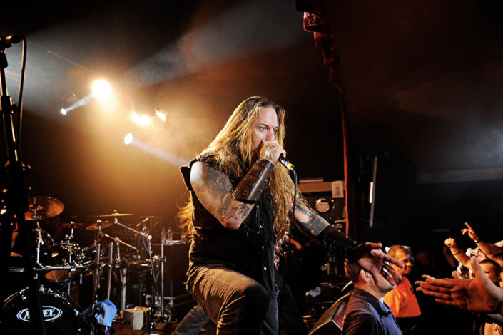 Dez Fafara of Devil Driver playing Electric Ballroom photographed by Marcus Maschwitz