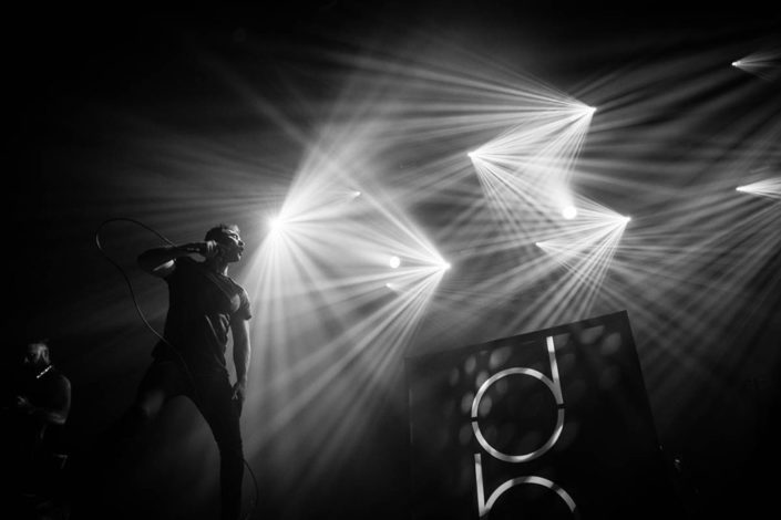 Rob Damiani of Don Broco performing live in Europe photographed by Marcus Maschwitz