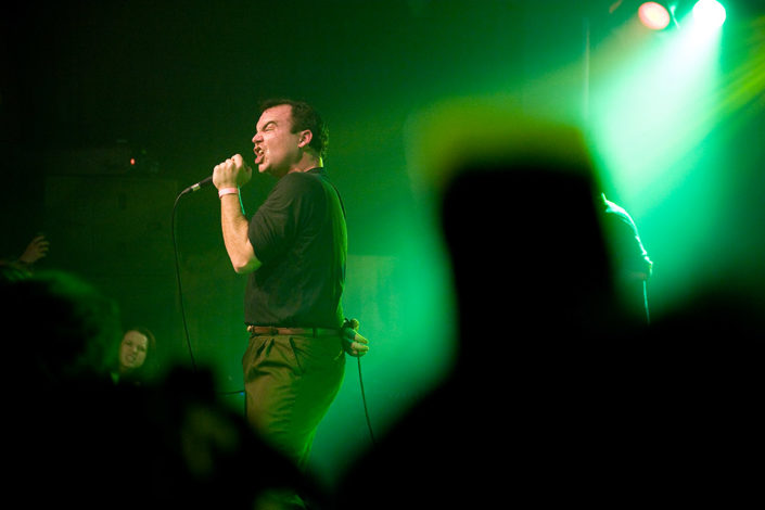 Samuel T Herring of Future Islands captured from the crowd photographed by Marcus Maschwitz