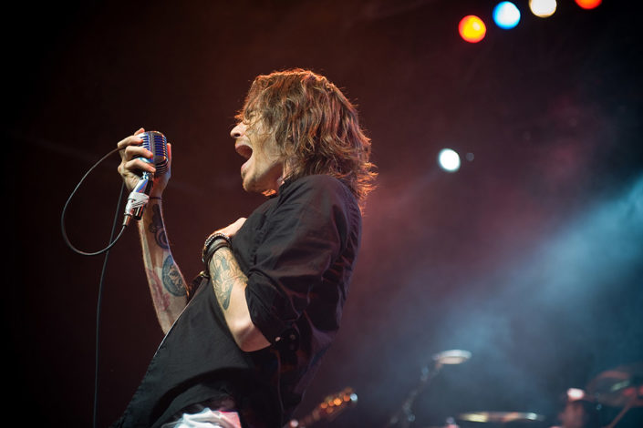 Brandon Boyd of Incubus headlining Alexander Palace in London photographed by Marcus Maschwitz