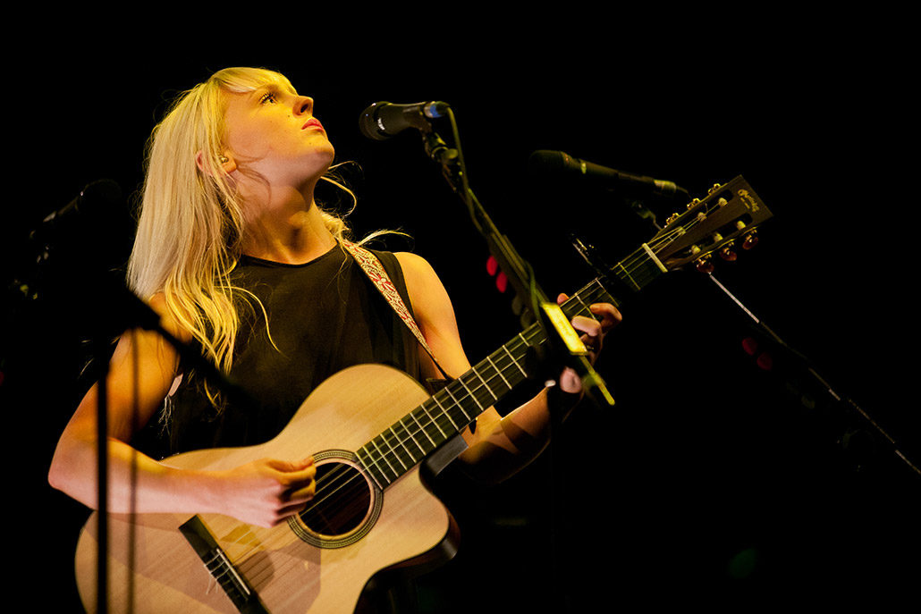 Laura Marling performing in The Royal Albert Hall photographed by Marcus Maschwitz