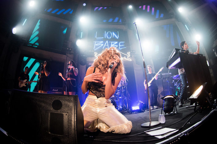 Lion Babe playing Future Underground for Red Bull photographed by Marcus Maschwitz