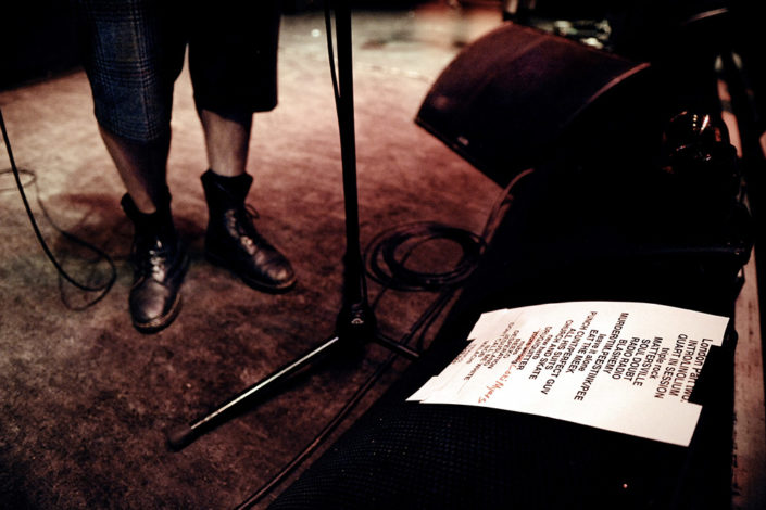 Fat Mike and setlist for NOFX photographed by Marcus Maschwitz