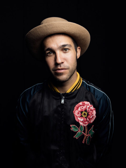 Editorial portrait of Pete Wentz from Fall Out Boy photographed by Marcus Maschwitz