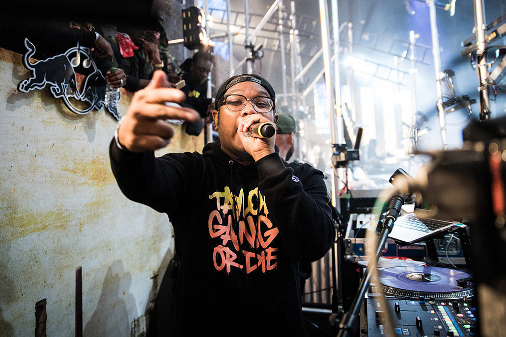 DJ Bonics of Taylor Gang playing live at Red Bull Culture Clash photographed by Marcus Maschwitz