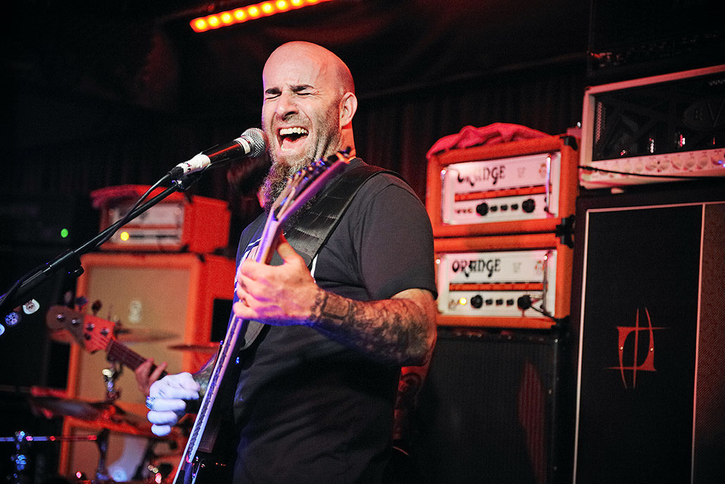 Scott Ian of Anthrax playing live for The Damned Things debut show photographed by Marcus Maschwitz
