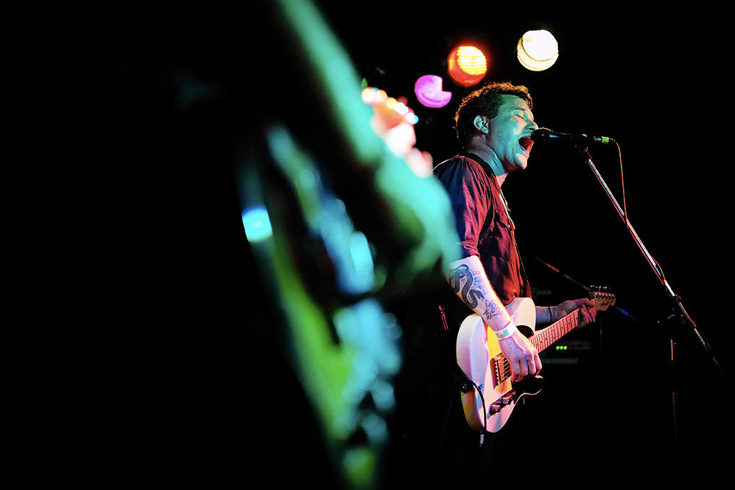 The Get Up Kids performing live on stage photographed by Marcus Maschwitz