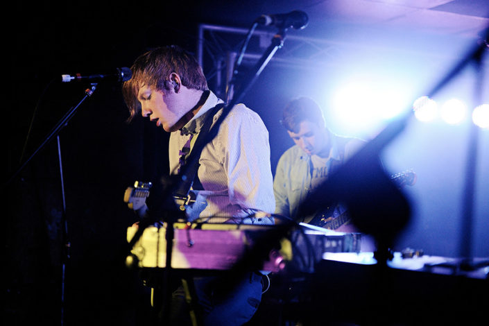 Alex Trimble of Two Door Cinema Club performing their album release show photographed by Marcus Maschwitz