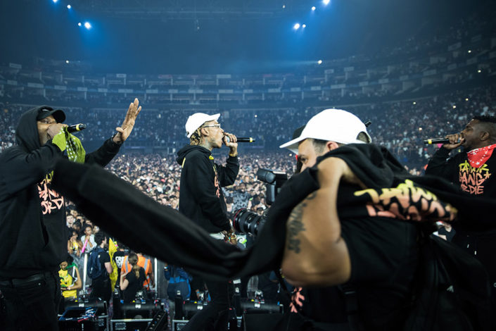 Wiz Khalifa and Taylor Gang playing for Red Bull in London photographed by Marcus Maschwitz
