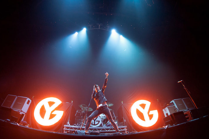 Gustav Wood of Young Guns playing Wembley photographed by Marcus Maschwitz