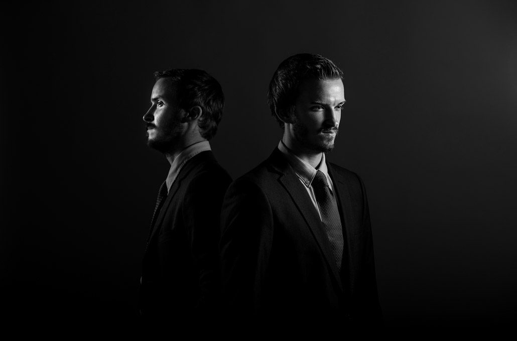 Black and white band portrait photographed by Marcus Maschwitz