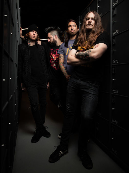 Press photograph of Of Mice & Men photographed in Copenhagen by Marcus Maschwitz