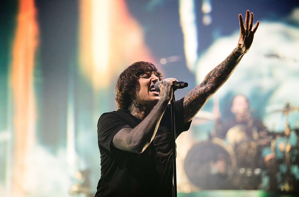 Oli Sykes of BMTH up close photographed by Marcus Maschwitz
