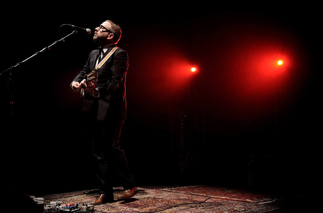 Dallas Green of City and Colour performing solo live at Royal Albert Hall photographed by Marcus Maschwitz
