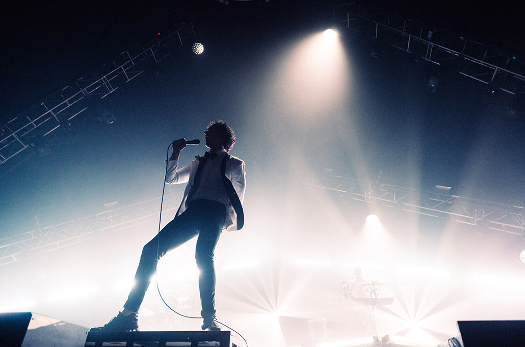 Rob Damiani of Don Broco performing live as they headline Alexander Palace photographed by Marcus Maschwitz