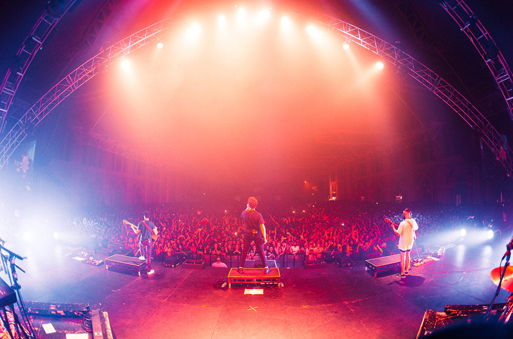 Don Broco and a big crowd at Ally Pally for their headline show photographed by Marcus Maschwitz