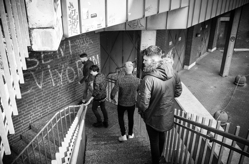 Don Broco walking around Germany photographed by Marcus Maschwitz