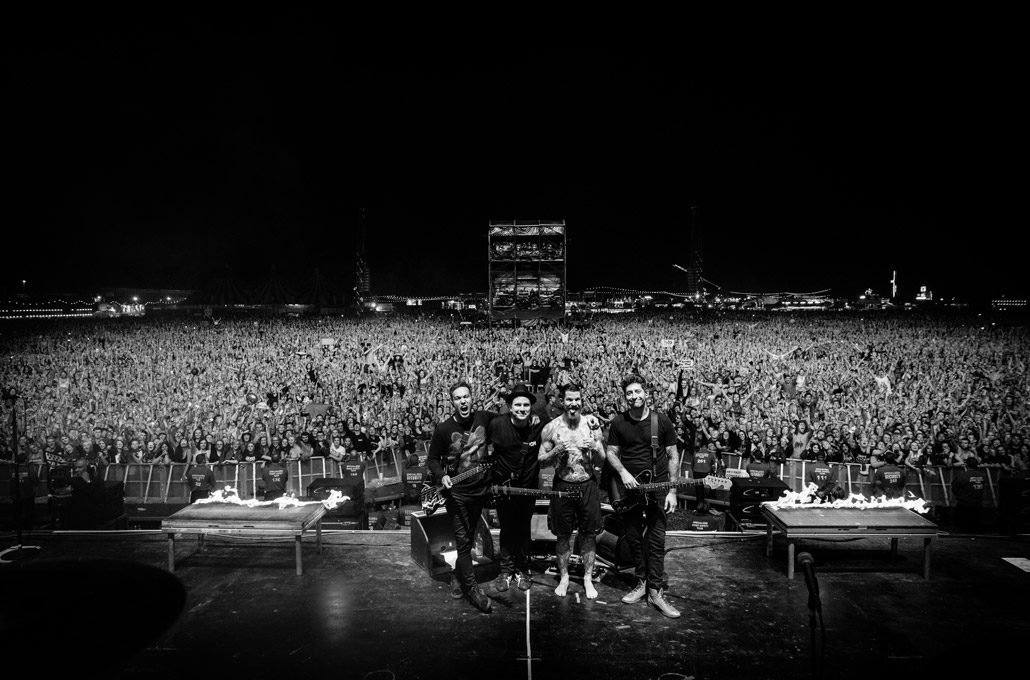 Fall Out Boy headlining Reading Festival photographed by Marcus Maschwitz