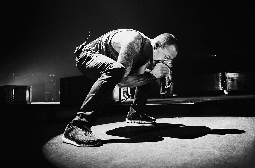 Chester Bennington performing live with Linkin Park photographed by Marcus Maschwitz