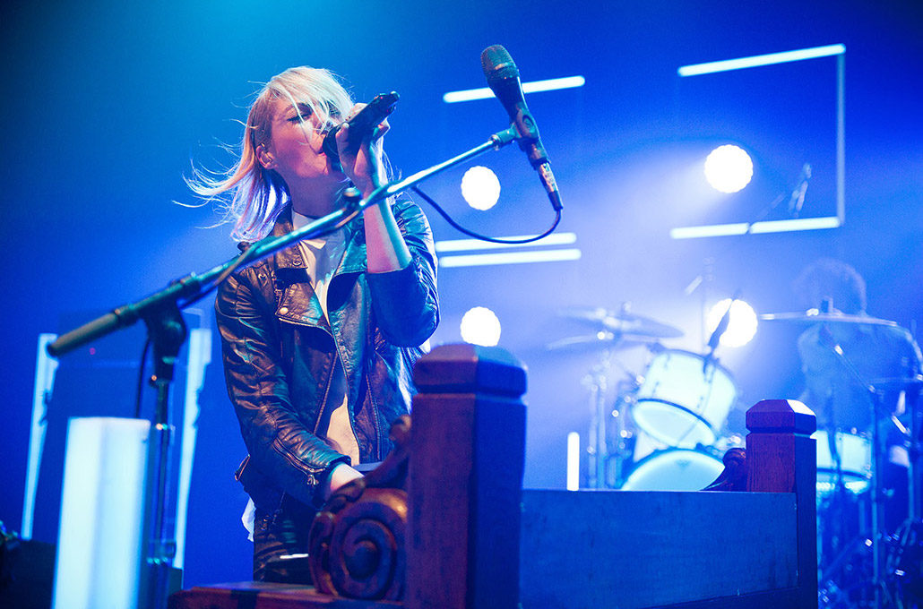Emily Haines of Metric performing live photographed by Marcus Maschwitz