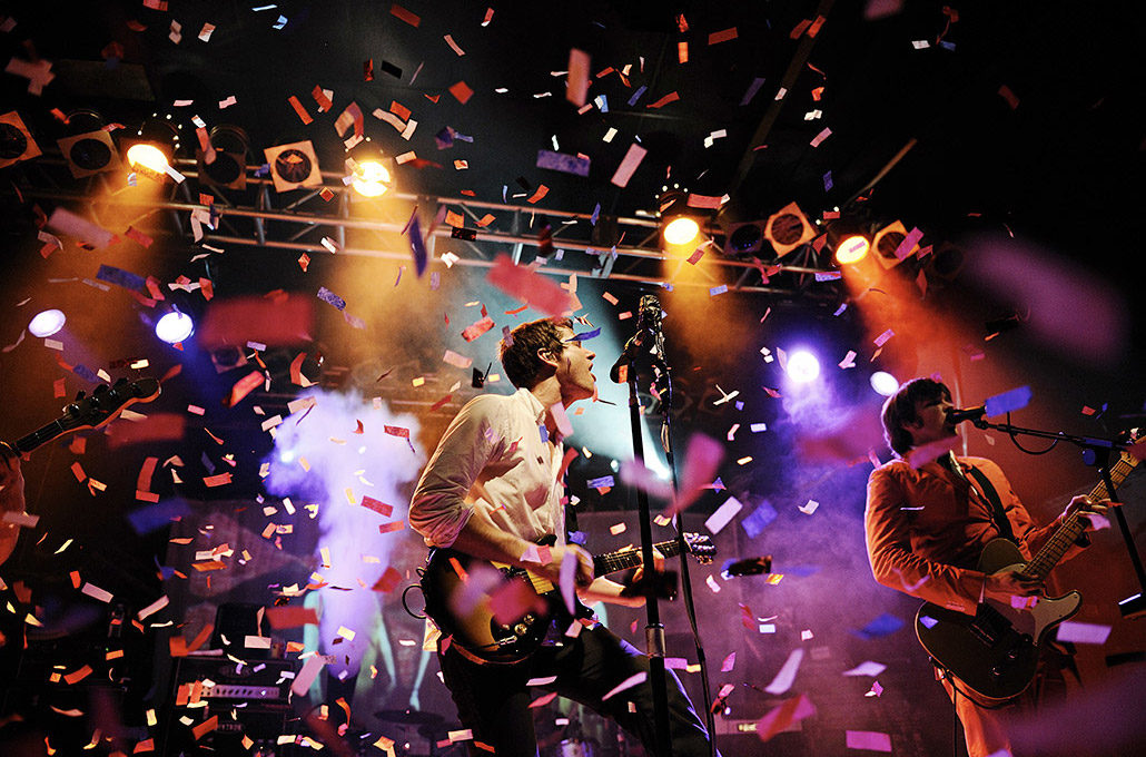 Damian Kulash of OK Go performing live at Koko photographed by Marcus Maschwitz