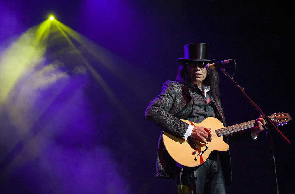 Rodriguez, also known as Sugarman, performing live photographed by Marcus Maschwitz