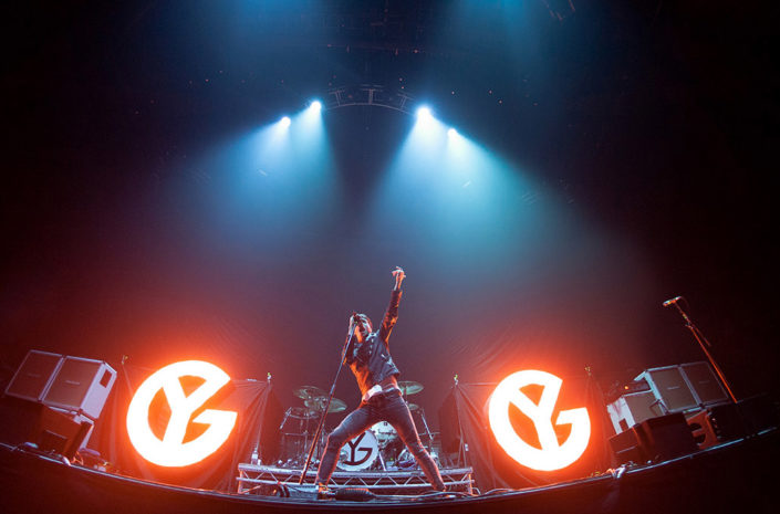 Gustav Wood of Young Guns performing live at Wembley Arena photographed by Marcus Maschwitz