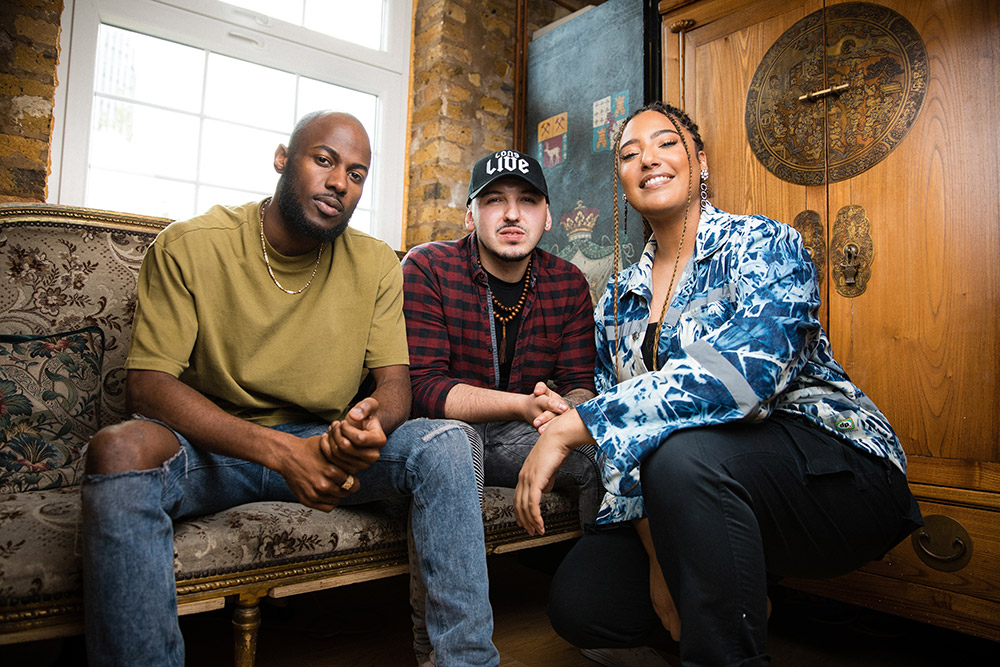 Tiffany Calver, Kadiata and Shin pose for a portrait during The Cut Season 1 in London, United Kingdom on May 12, 2019